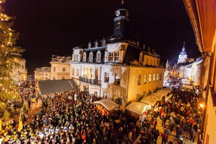Weihnachtsmarkt Schwarzenberg.15 12 2018 Große Schwarzenberger Bergparade Erzgebirge